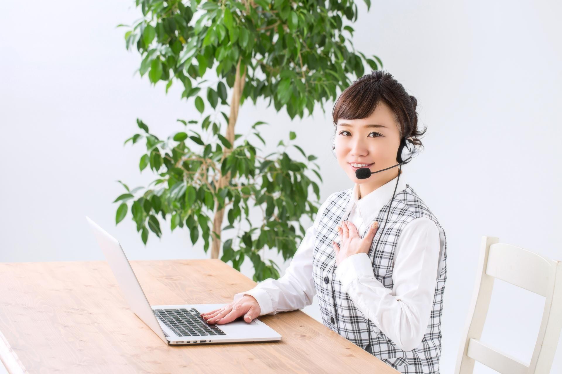 電話対応サービスの女性