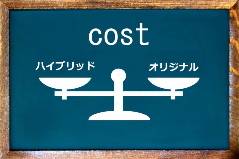 ハイブリッドとオリジナルのコスト比較