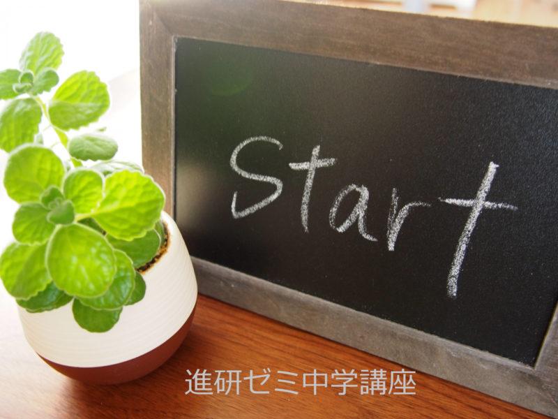 startと書かれた黒板