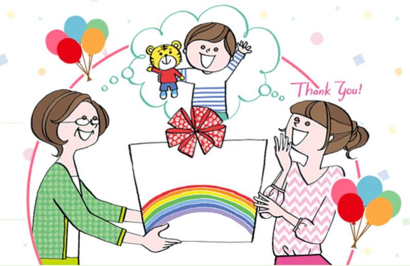 プレゼントに喜ぶ子ども