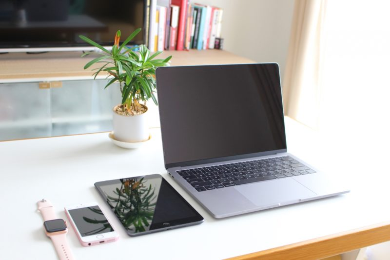 スマホとタブレットとノートパソコン