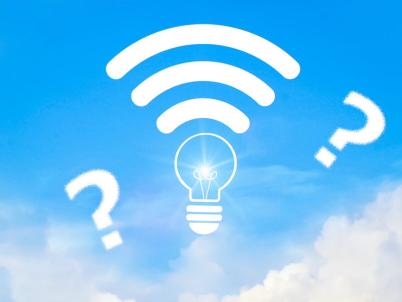 wi-fi接続とクエスチョンマーク